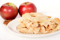 Cinnamon and apple pie closeup Royalty Free Stock Photos