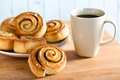 Cinnamon bun Royalty Free Stock Photo