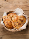 Cinnamon buns or rolls sweet with and sugar selective focus Royalty Free Stock Photography