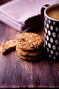 Cinnamon cookies and mug of coffee Royalty Free Stock Photography