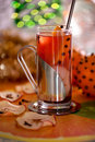 Cinnamon orange christmas tea Royalty Free Stock Images