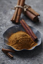 Cinnamon powder Royalty Free Stock Photo
