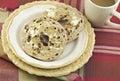 Cinnamon Raisin Bagels with Coffee Royalty Free Stock Photo