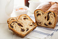 Cinnamon raisin bread for breakfast Royalty Free Stock Photo