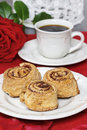 Cinnamon rolls festive and party dessert Stock Photo