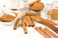 Cinnamon Spice Heaps Royalty Free Stock Photo