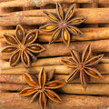 Cinnamon and star anise Royalty Free Stock Photography