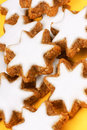 Cinnamon star cookies in german zimtsterne are typical german and swiss christmas Royalty Free Stock Photos