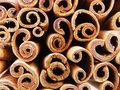 Cinnamon sticks brown close up Royalty Free Stock Images
