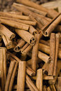 Cinnamon Sticks Displayed For Sale Stock Photo