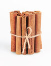 Cinnamon sticks isolated white background Stock Images