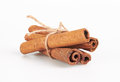 Cinnamon sticks isolated white background Royalty Free Stock Photo