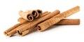 Cinnamon Sticks Isolated On Th...