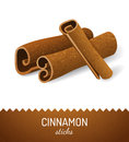 Cinnamon sticks over white background Stock Photo