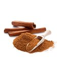 Cinnamon sticks and powder Royalty Free Stock Photo