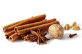 Cinnamon sticks and spices Royalty Free Stock Photo