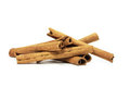Cinnamon sticks stick isolated on white Royalty Free Stock Images