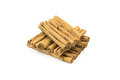 Cinnamon sticks on a white background Royalty Free Stock Photography