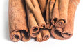 Cinnamon sticks on white background isolated Royalty Free Stock Photography