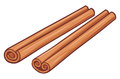 Cinnamon vector illustration of sticks Royalty Free Stock Photos