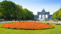Cinquantenaire Parc on a sunny day Royalty Free Stock Photo