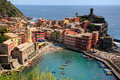 Cinque Terre Fishing Village Royalty Free Stock Photos