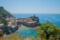 Cinque terre italy at the north of well known for walking Royalty Free Stock Photo