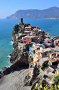 Cinque terre italy vernazza colorful fishermen village Stock Photography