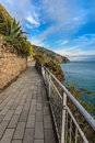 Cinque Terre - road of love Stock Image
