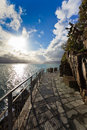 Cinque Terre - road of love.Italy Royalty Free Stock Photo