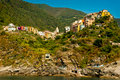 Cinque Terre Village of  Corniglia Royalty Free Stock Images