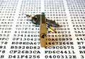 Cipher, keys and padlock Royalty Free Stock Photo
