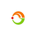 Circle abstract colored technology logo