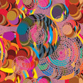 Circle ball running seamless pattern Royalty Free Stock Photo