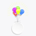 Circle and balloons light bulbs Royalty Free Stock Photo