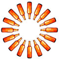 Circle of beer bottles Royalty Free Stock Photo