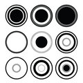 Circle black Royalty Free Stock Photo