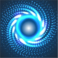 Circle blue abstract techno background Royalty Free Stock Photo