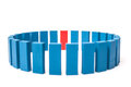 Circle of blue blocks with single red one Royalty Free Stock Photo