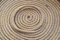 Circle bunch of ship rope Royalty Free Stock Photo