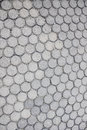 Circle cement footpath  pattern background. Royalty Free Stock Photo