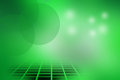 Circle and checks abstract background on green Stock Image