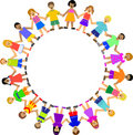 Circle of Children Holding Hands Royalty Free Stock Photo