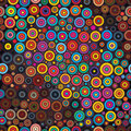 Circle circle colorful seamless pattern Royalty Free Stock Photo