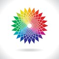 Circle colorful elements abstract vector color flower wheel on white background Royalty Free Stock Images