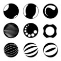Circle design elements Stock Photos