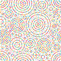 Circle dot colorful seamless pattern Royalty Free Stock Photo