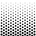 Circle Dots pattern design background in Black and white