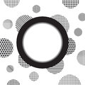 Circle And Dotty Background