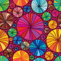 Circle draw colorful seamless pattern Royalty Free Stock Photo